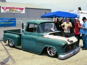 Progressive Automotive 1955 (2nd Ser.) -57 Chevy truck chassis, built for extreme lowered ride height