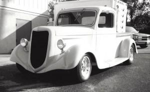 1934 Ford truck featuring Progressive Automotive chassis