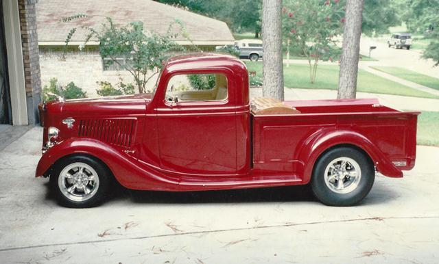 1936 Ford truck featuring Progressive Automotive chassis