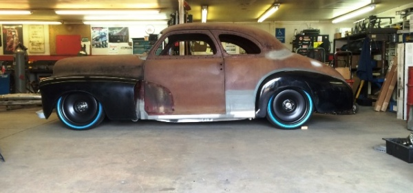 1947 Chevrolet coupe featuring Progressive Automotive chassis