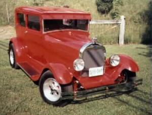 Model A Ford 2-dr. sedan featuring Progressive Automotive parts