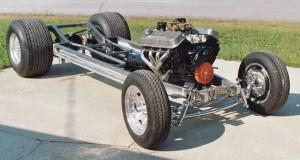 Custom Progressive Automotive 1934 Chevy Master chassis with optional parts