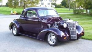 1938 Chevrolet sedan featuring Progressive Automotive chassis