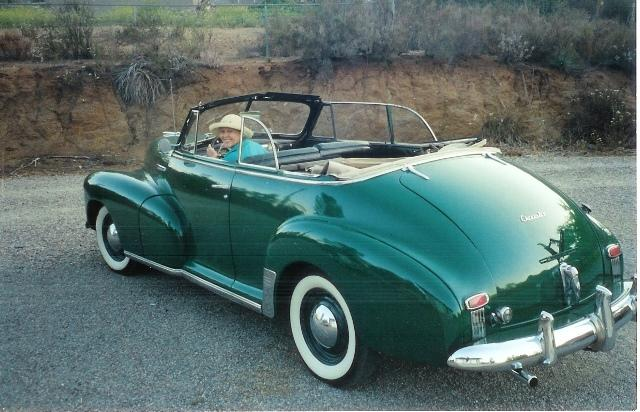 1947 Chevrolet convertible featuring Progressive Automotive chassis