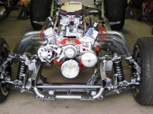 Progressive Automotive 1953-62 Corvette chassis with C4 Corvette front brackets and reman. power rack & pinion
