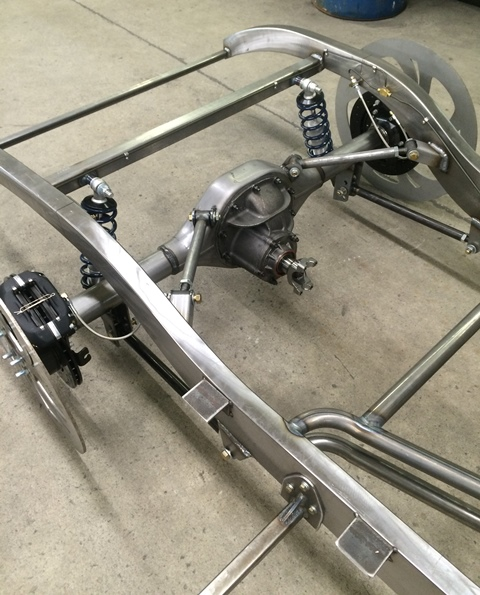 Progressive Automotive Triangulated 4-bar supension with Ride Tech HQ coil-overs & Wilwood brakes