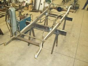 Progressive Automotive 1934 Plymouth frame with Triangulated 4-bar and customers supplied 8 3/4 Chrysler rear end