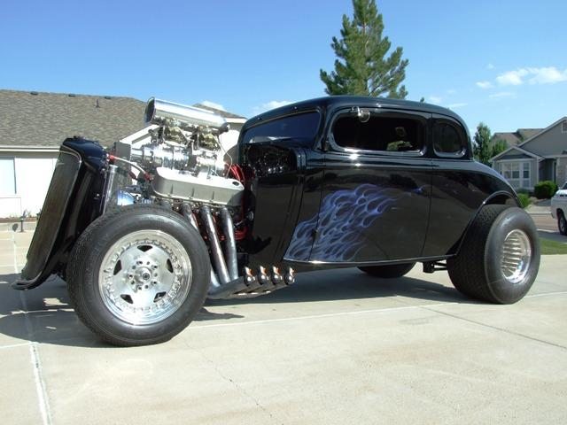 1934 Chevy Master coupe with custom Progressive Automotive 1934 Chevy Master chassis