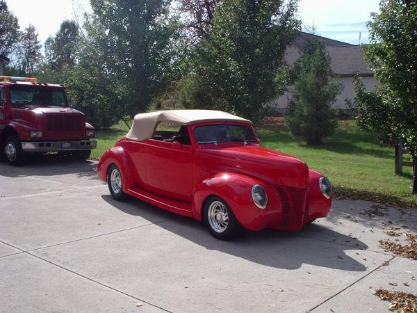 1940 Ford Convertible Featuring Progressive Automotive Chassis