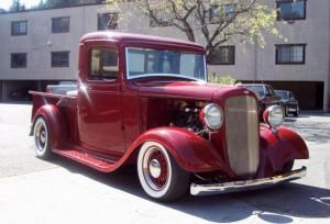 1934-36 Chevrolet truck featuring Progressive Automotive chassis