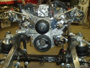 Progressive Automotive 1935-40 car/1935-41 truck chassis with C4 Corvette IFS & Ride Tech HQ ShockWaves