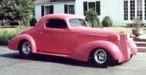 1935 Olds with custom built Progressive Automotive IFS