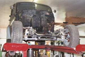 Progressive Automotive custom 1939 Buick IFS installation