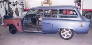 Progressive Automotive custom 1954 Studebaker wagon chassis upgrade