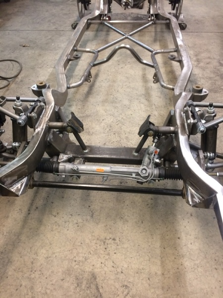 Progressive Automotive custom built 1976-69 Camaro frame for 572 Big Block and dual turbos
