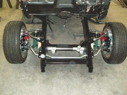 Coil Spring & Shock style without springs installed with optional front sway bar
