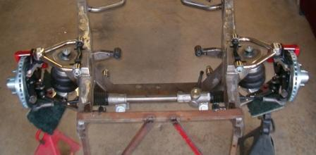 Air Ride style front suspension with Upgraded brakes