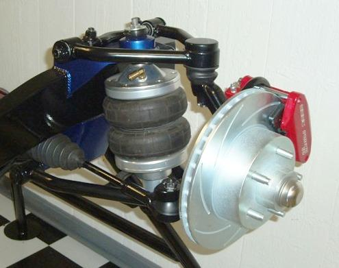 Air Ride Style Mustang II IFS Based Front Suspension With Upgraded Brakes