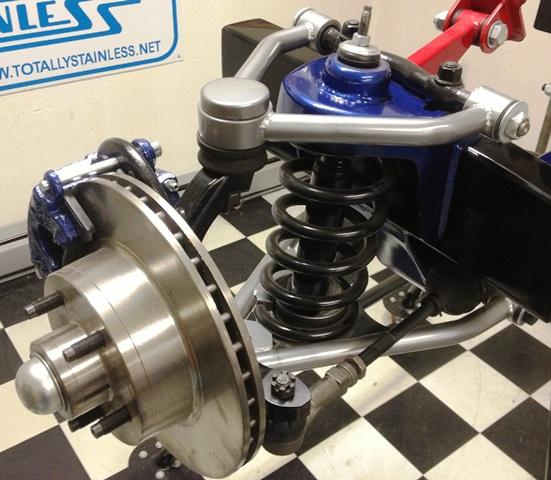 Coil Spring & Shock Style Tubular IFS shown with optional powder coated control arms
