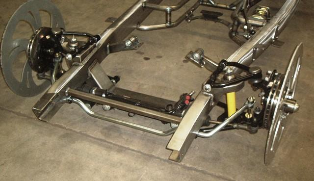 Coil Spring & Shock style without springs installed with optional powdercoated control arms, power rack and front sway bar