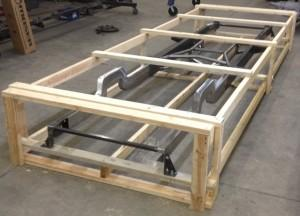 Skeletal crated frame for LTL freight