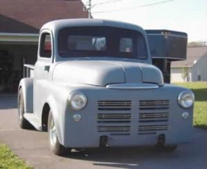 1948 Dodge truck with custom built Progressive Automotive IFS