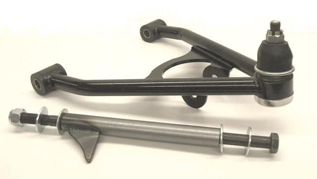 Progressive Automotive lower control arm for Ride Tech coil-overs or ShockWaves. Black powder coat additional.