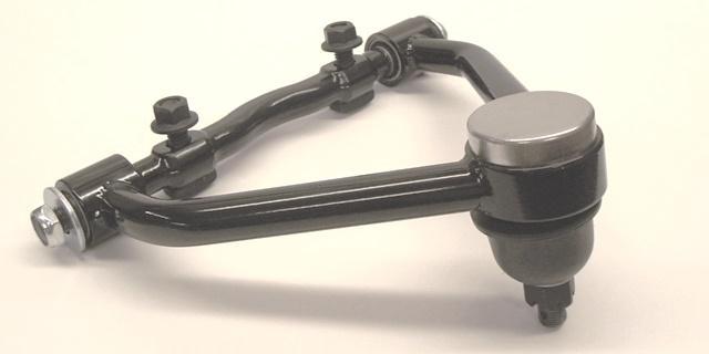 Progressive Automotive upper control arm with optional t-bolts, nuts. Black powder coat additional.