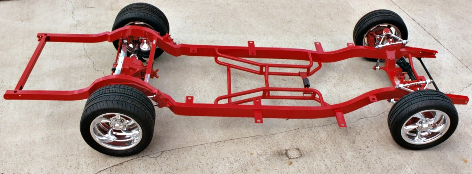Frames Chassis 1955 1956 1957 Chevy Chevrolet Frame Bel Air Front Suspension Progressive Automotive 57 With C4 Corvette Optional Parts