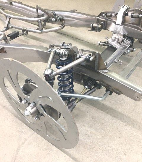 Progressive Automotive 1941-48 Chevrolet chassis with Tubular IFS, sway bar & Ride Tech HQ coil-overs