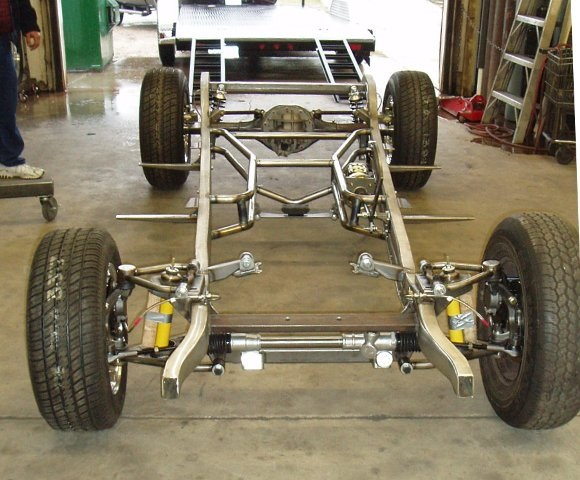 Progressive Automotive 1933 Plymouth chassis with Tubular IFS, Triangulated 4-bar, Ride Tech HQ coil-overs & optional parts