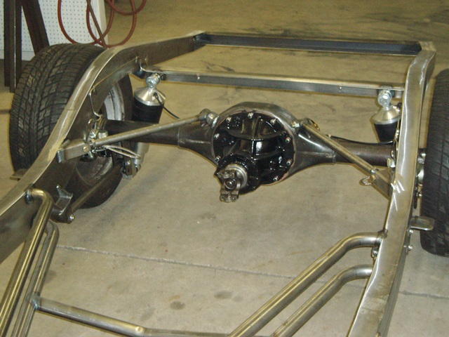 Progressive Automotive 1941-48 Ford Chevrolet chassis with Ride Tech ShockWaves, Triangulated 4-bar & optional parts