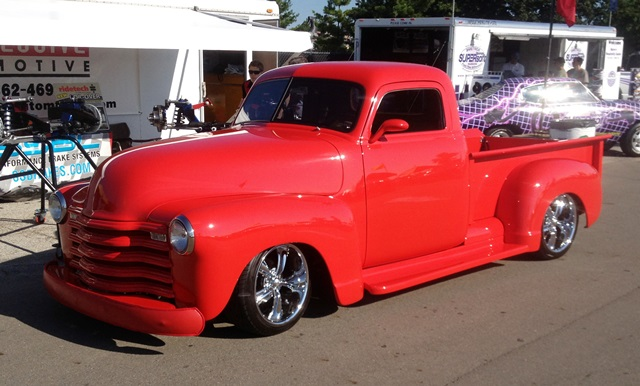 1948 Chevrolet truck featuring Progressive Automotive chassis