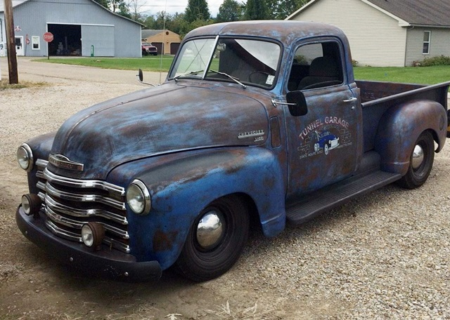 1947-53 Chevrolet truck featuring Progressive Automotive chassis