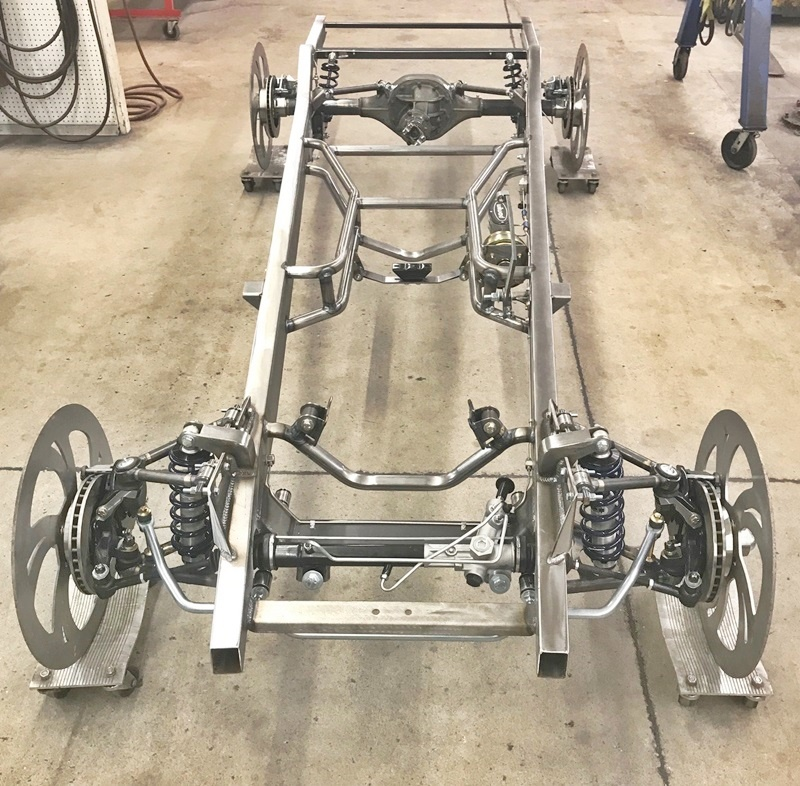 Progressive Automotive 1941-46 Chevrolet truck chassis with optional coil-over front suspension