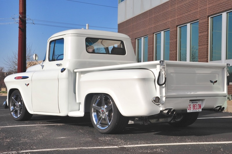 Progressive Automotive 1955 (2nd Ser.) -57 Chevrolet truck chassis with C6 Corvette mounting points and Ride Tech HQ coil-overs