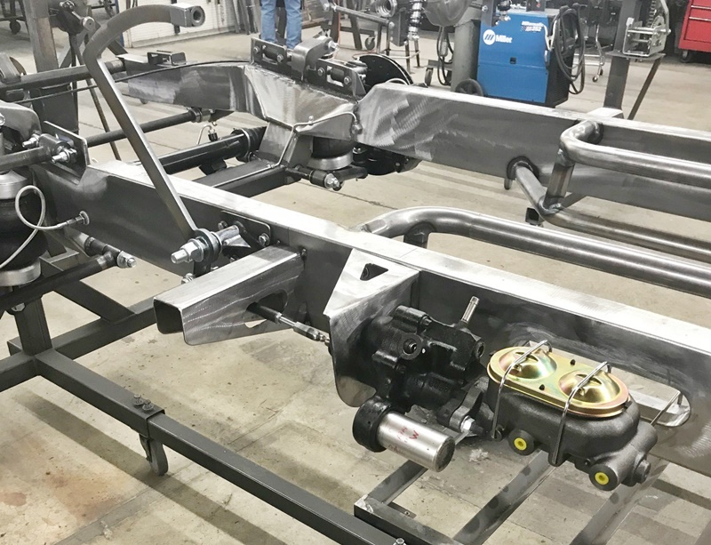 PA-HB-AB and PA-AC-HB shown installed with master cylinder and brake pedal assembly.