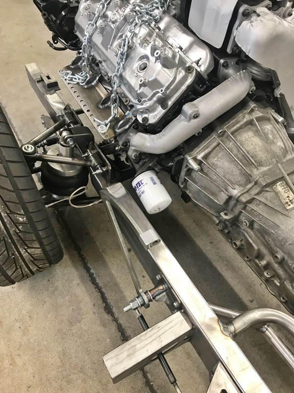 Progressive Automotive 1955 (2nd Ser.) -59 Chevrolet truck chassis with Duramax motor mounts